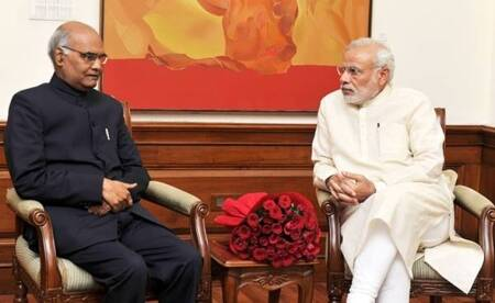 prasident election - ram-nath-kovind-with modi