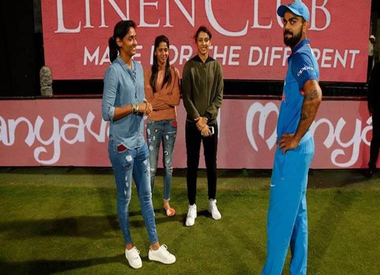 Virat Kohli,Harmanpreet Kaur ,Smriti Mandhana , indian cricket team, indian women cricket team,