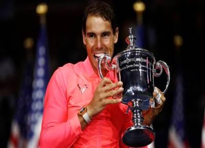 Rafael Nadal, of Spain, US Open Tennis
