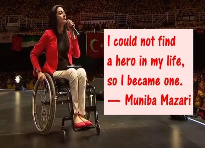 Muniba Mazari,motivational speaker