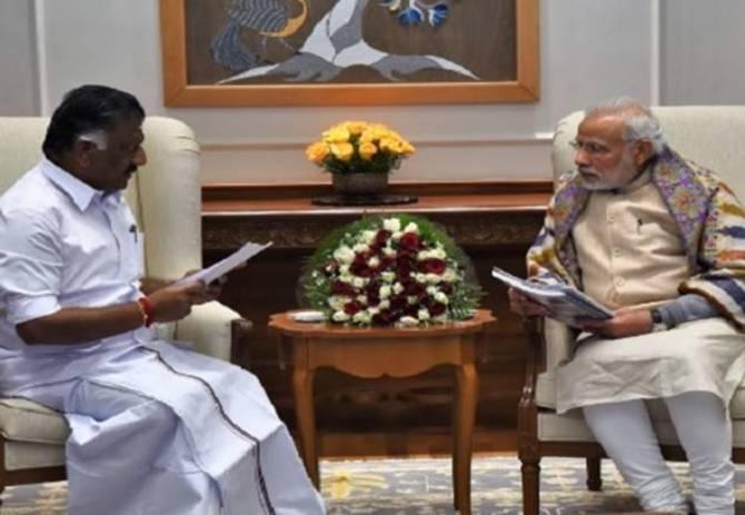deputy cm o.panneerselvam, cm edappadi palaniswami, tamilnadu government, aiadmk, pm narendra modi