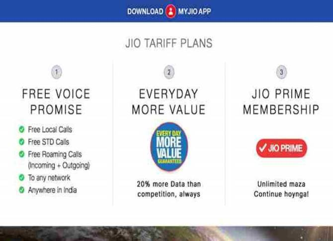 Reliance Jio, Reliance Jio 4G, post paid tariffs,