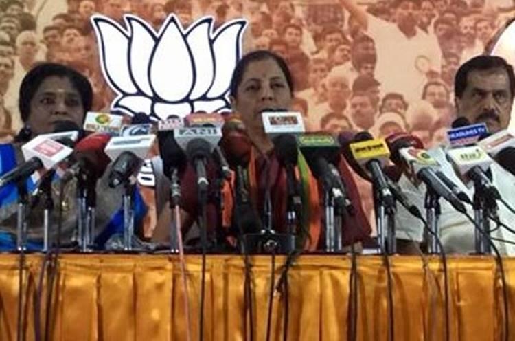 india, tamilnadu, bjp, central minister nirmala sitharaman, tamilisai soundararajan, demonitisation, black money, pm narendra modi