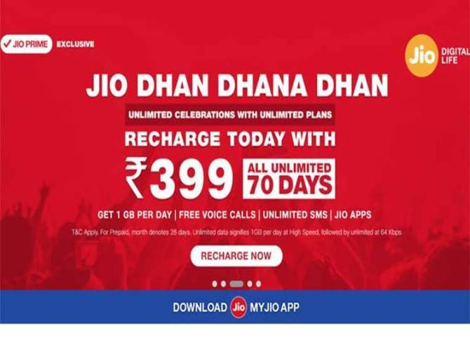 Reliance Jio, Smartphones, Jio cashback offer, Rs 399 recharge,