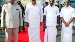 venkaiah naidu, vice president, india, chennai air port, Banwarilal purohit, cm edappadi palaniswami, deputy cm o.panneerselvam