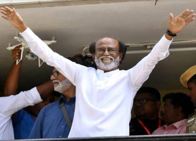 Rajinikanth meets Media