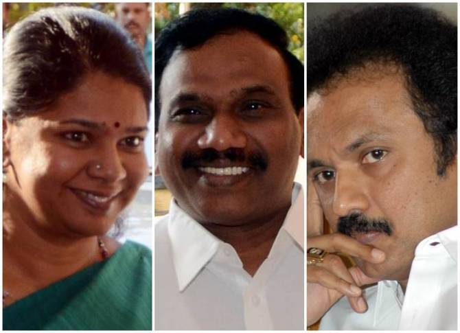 2G Case Release, DMK, MK Stalin, Kanimozhi, A.Raja