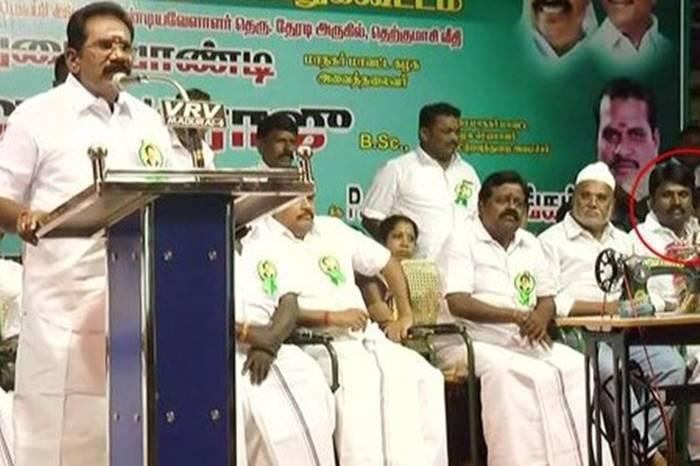 Anbuchezhiyan at Sellur Raju Meeting, Madurai, ADMK