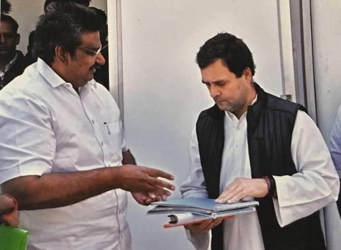 Royapuram Mano, Rahul Gandhi, Congress Functions