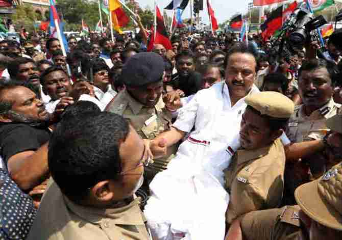 cauvery Issue, Cauvery Management Board, Marina Protest, MK Stalin, TN Bandh