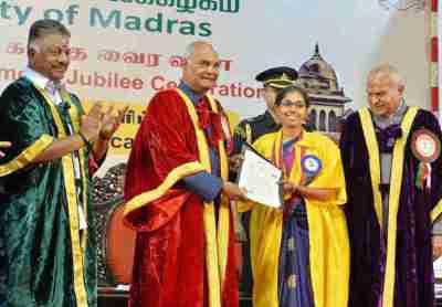 Ram nath Kovind, Chennai University Produced 6 Presidents
