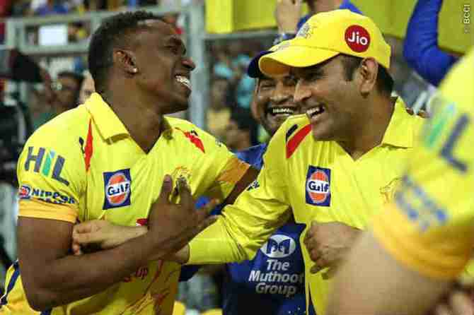MS Dhoni Running Competition With Bravo