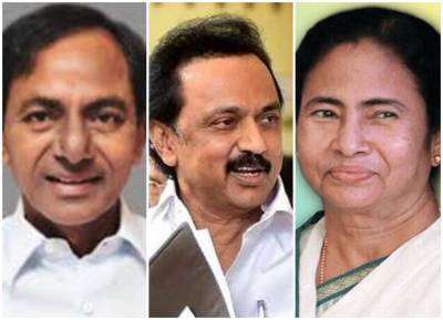 Chandrasekar rao - stalin - mamtha