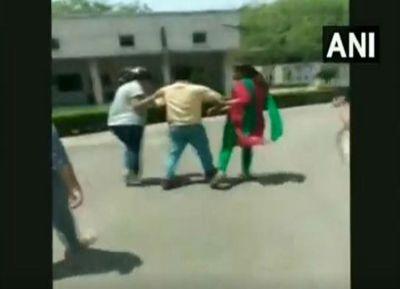 punjab professor beaten up by students