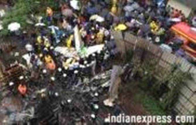 Mumbai, Ghatkopar chartered plane crash, fire brigade: