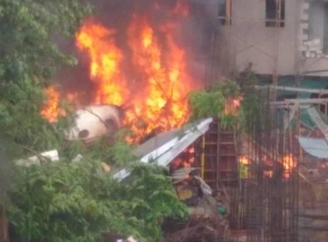 Mumbai, Ghatkopar chartered plane crash, fire brigade