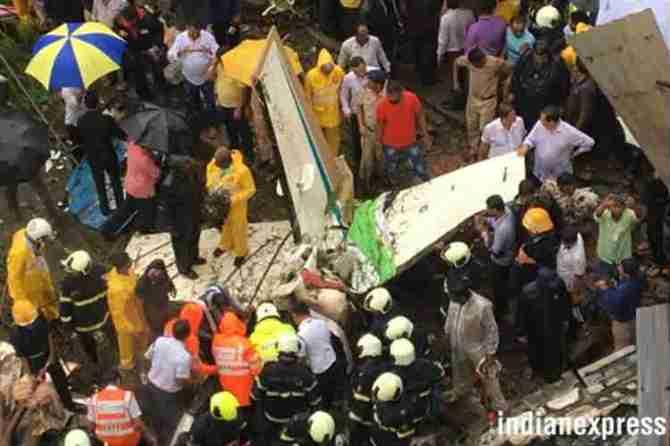 Mumbai, Ghatkopar chartered plane crash, fire brigade: