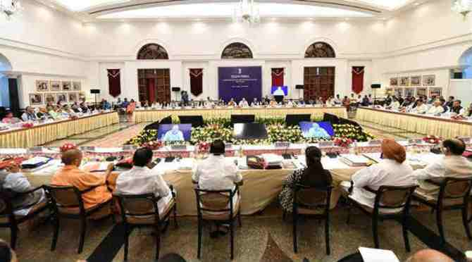 Edappadi Palaniswami at New Delhi, Niti Aayog, Narendra Modi