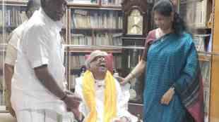pon radhakrishnan meets karunanidhi