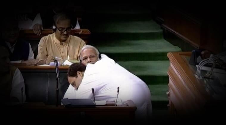 Rahul hugs PM