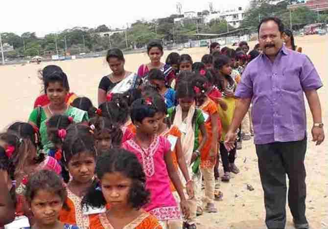 Nandakumar MLA, scheduled Tribe Students to Marina