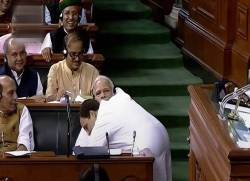 No-Confidence motion: Rahul Gandhi Hugs PM Modi