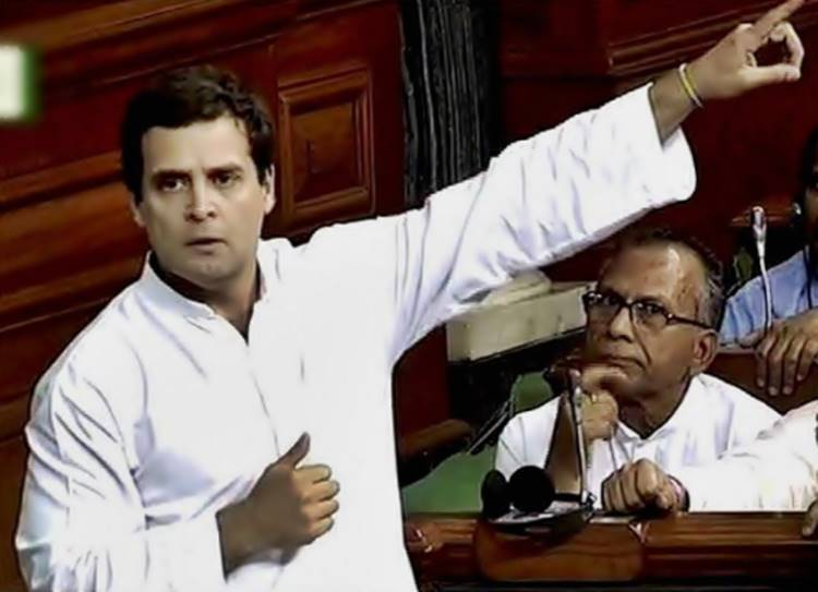 Rahul Gandhi, No confidence Motion