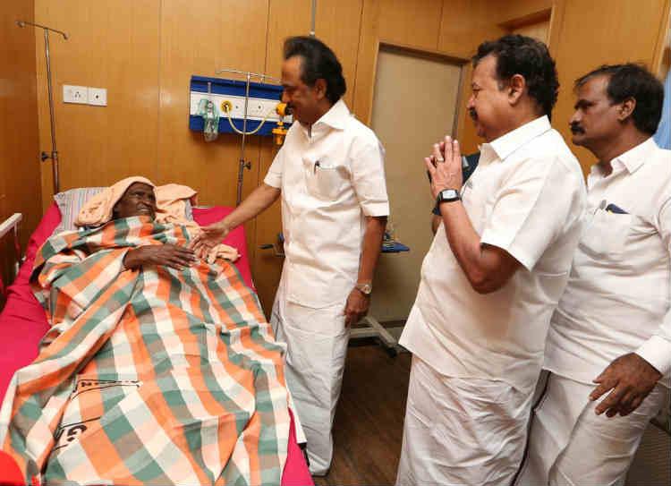tha. pandiyan hospitalized