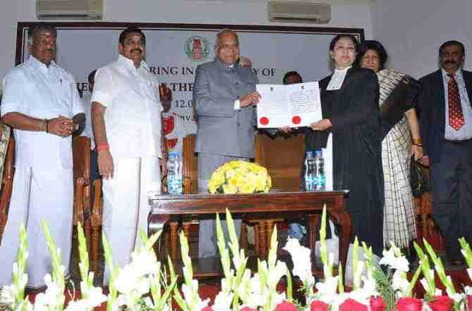 Madras HC Chief Justice V K Tahilramani resignation