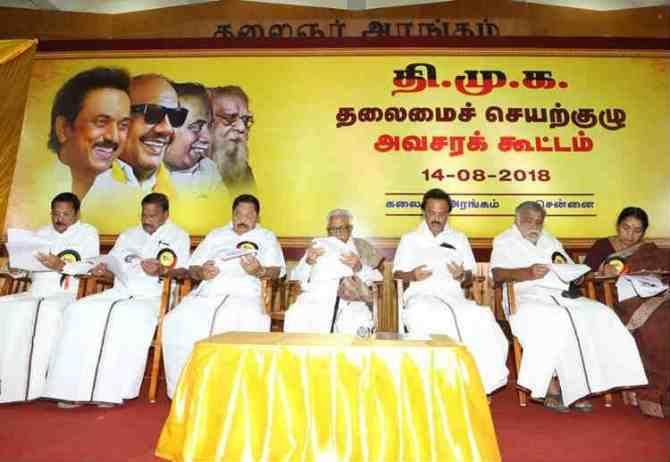 DMK Executive Committee, DMK meeting today, dmk meeting live, Chennai News, Tamil Nadu News, M.K. Stalin
