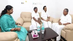 pinarayi vijayan in kauvery hospital, கருணாநிதி, Kerala CM met Karunanidhi