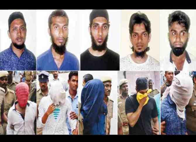 5 arrested in coimbatore, கோவையில் 5 பேர் கைது