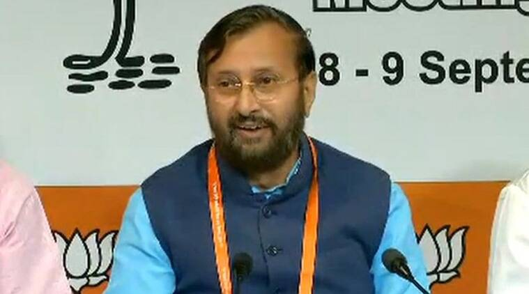 BJP National Executive Meeting - prakash javedekar, பாஜக செயற்குழு கூட்டம்