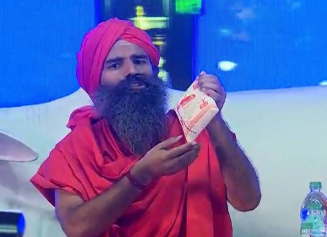 Baba Dev's Patanjali Launches Cow Milk Products