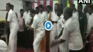 Minister SP Velumani dance