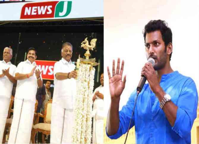 actor vishal about news j, நடிகர் விஷால்
