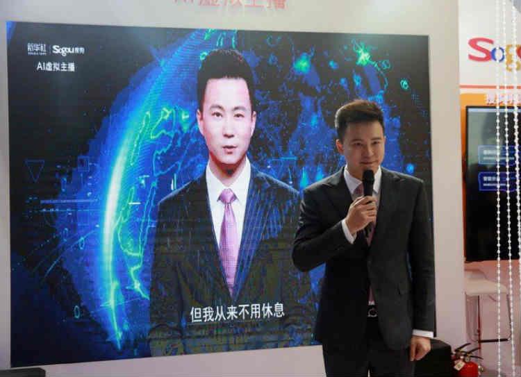 china virtual news reader, சீனா