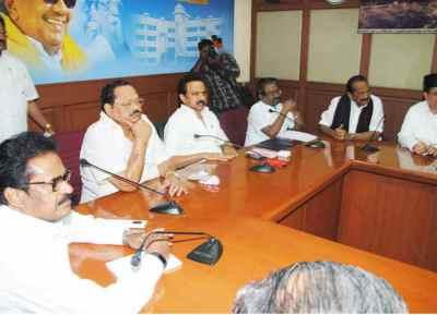 Dravida Munnetra Kazhagam, MK Stalin, DMK Alliance Protest On Kashmir issue, ஜம்மு காஷ்மீர், திமுக அனைத்துக் கட்சிக் கூட்டம்