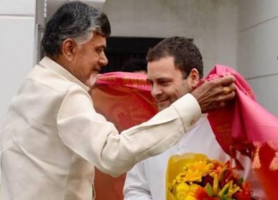 Congress Chief Rahul Gandhi met TDP chief Chandrababu Naidu