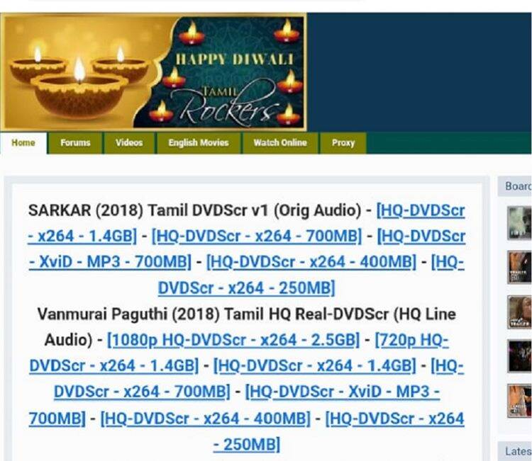 Tamilrockers Leaked Vijay's Sarkar Full movie in HD Print