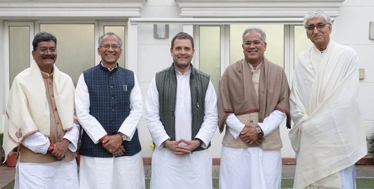 Chhattisgarh, madhya pradesh cm and deputy cm oath taking, 3 காங்கிரஸ் முதல்வர்கள்