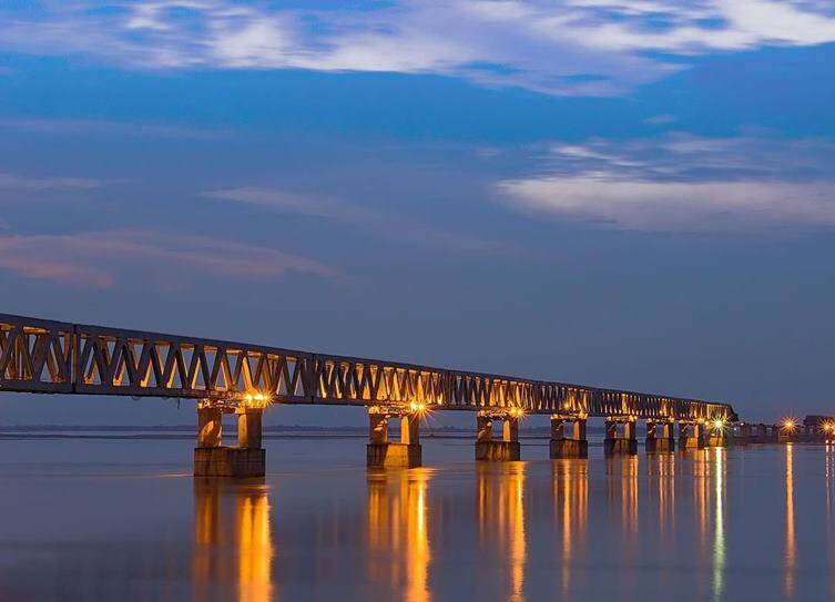 Assam Bogibeel bridge, அசாம் போகிபீல் பாலம், அசாம் போகிபீல் மேம்பாலம்