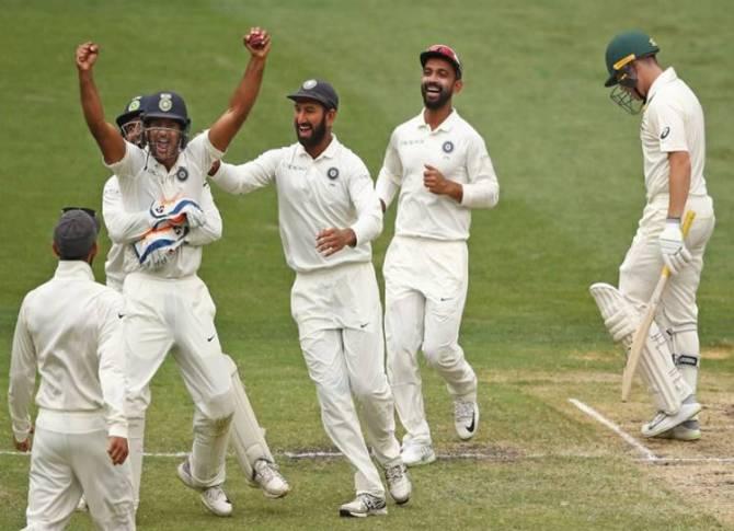 India beat australia melbourne test cricket boxing day test - 150வது டெஸ்ட் வெற்றி! ஆஸ்திரேலியாவை வீழ்த்தி இந்தியா அபாரம்!