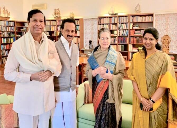 Latest Tamil News Live Updates, Sonia with MK Stalin