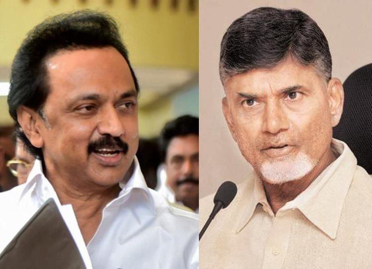Grand Alliance's PM Candidate, MK Stalin, Rahul Gandhi, Chandrababu Naidu