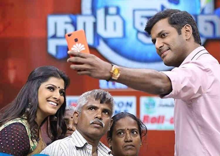 Sun TV, Vishal And Politics, Vishal In Television Show, நடிகர் விஷால், டி.வி. நிகழ்ச்சியில் விஷால்
