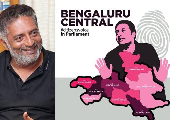 Actor Prakash Raj to contest in Lok Sabha polls from Bangaluru Central