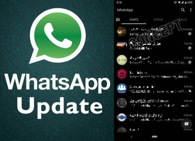Whatsapp Dark Mode, whatsapp