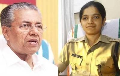 Chaitra Teresa John IPS, Thiruvananthapuram, சைத்ரா தெரெஸா ஜான், பினராயி விஜயன்