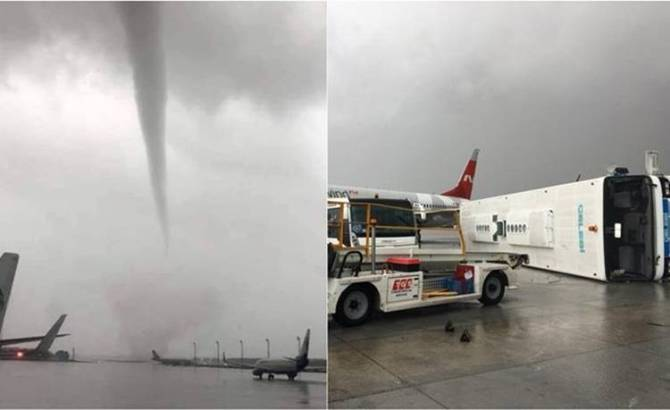 Planes damaged by the storm, Viral Video, துருக்கி, விமானங்களை இயங்க விடாத சூறைக் காற்று